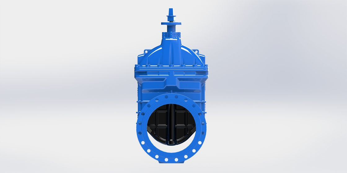 Ductile Iron Gate Valve Top Cap Or Hand Wheel Operated , Vulcanized Rubber Wedge