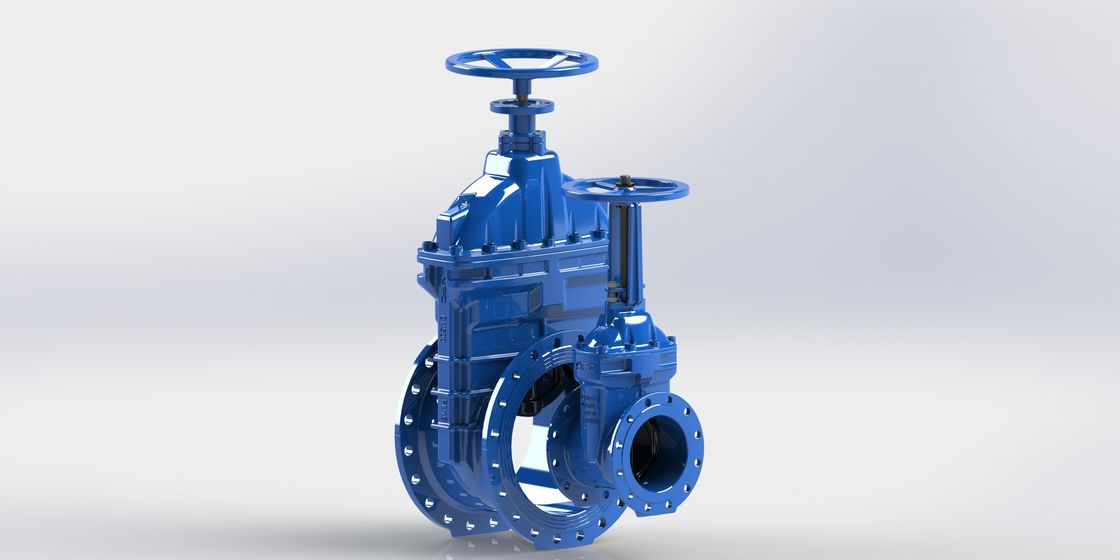 Ductile Iron AWWA Gate Valve Resilient Seated With Handwheel Rising Or No - Rising Stem