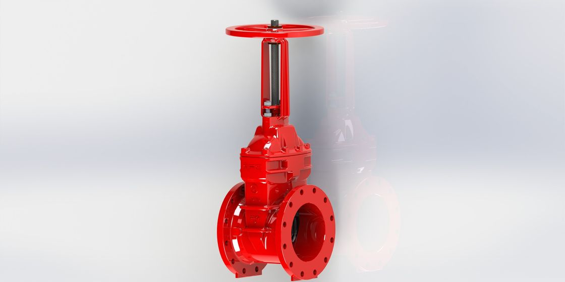Ductile Iron UL FM Flanged Gate Valve Resiient Seated For Fire Protection Service