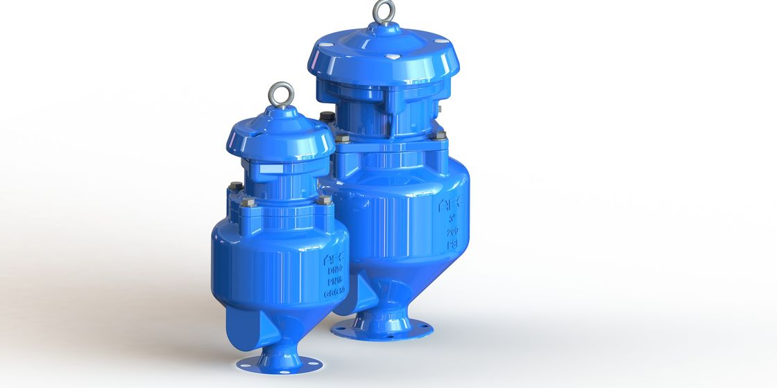 Blue Spill Free Safety Release Valve , Rubber O Ring Water Regulator Valve