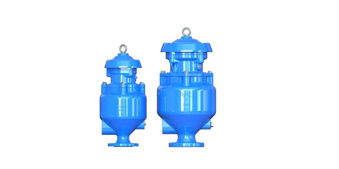 Vacuum Spill Free Sewage Air Release Valve For Wastewater , Fushion Bonded Epoxy Coated