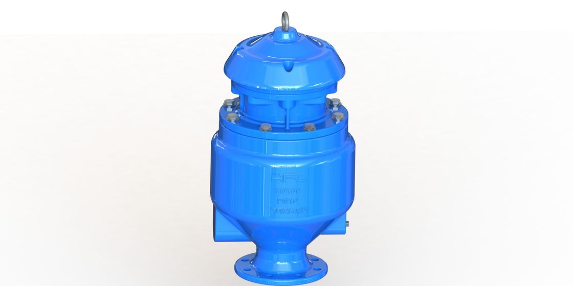 RAL5010 Ductile Iron Wastewater Check Valve Full Flow Area Long Life Time
