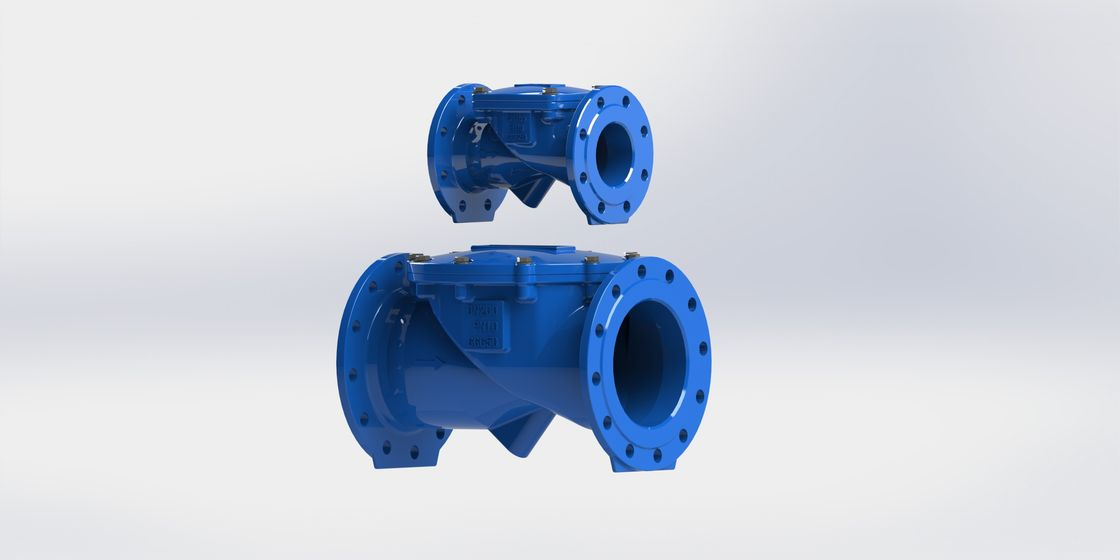 Ductile Iron Body Swing Flex Check Valve With EPDM / NBR Rubber Disc For Waste Water