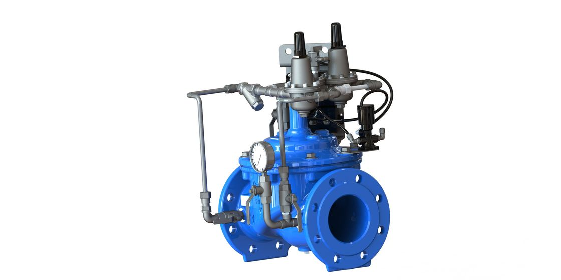 Dual Adjustable Set Point Pressure Control Valve , Ductile Iron Pressure Safety Valve