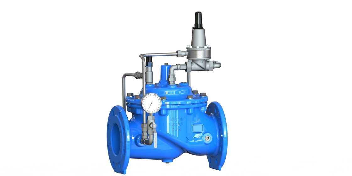 Blue Ductile Iron Pressure Sustaining Valve With Nylon - Reinforced Diaphragm