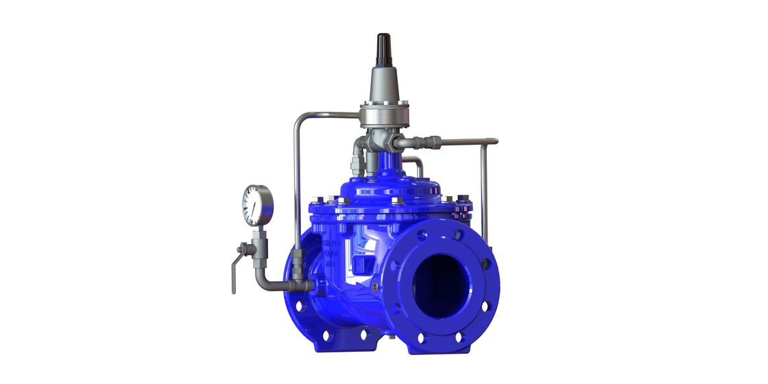 Pilot Operated Blue Pressure Sustaining Valve With Nylon Reinforcement Diaphragm