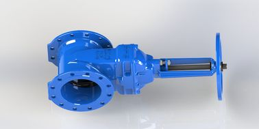 Hand Wheel Or Top Cap Operated Water Gate Valve Red / Blue Epoxy Coated
