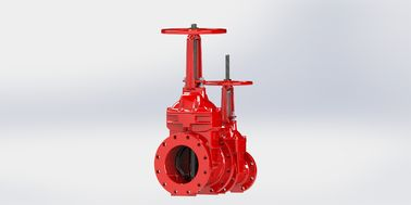 China Resilient Seated Valve For Fire Service , Red Stainless Steel Gate Valve factory