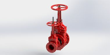 Rising Stem Type UL FM Gate Valve For Fire Protection Service Red Epoxy Coated