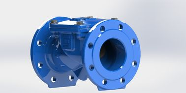 Rubber Coated Disc Ductile Iron Swing Check Valve Wastewater Available