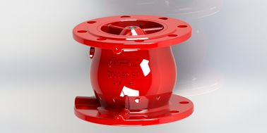 Red Non Slam Check Valve With Anti Water Hammer And Low Head Loss Function