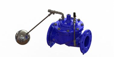 China Modulating Blue Floating Ball Valve , Full Bore Water Level Float Valve factory