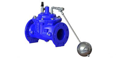 China Red / Blue Float Operated Valve , Ductile Iron Water Trough Float Valve factory